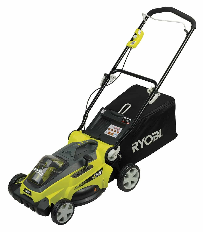 Ryobi rlm3640li tondeuse lectrique sans fil test avis for Tondeuse a batterie ryobi