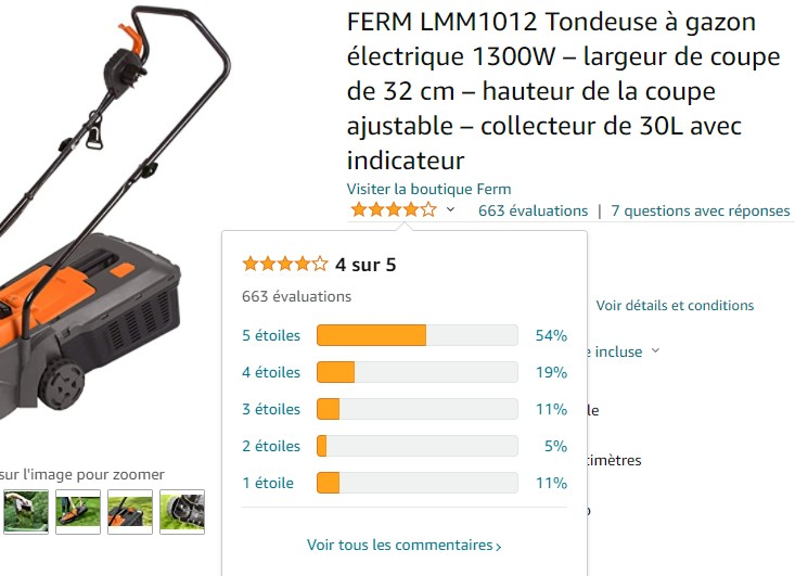avis utilisateurs FERM LMM1012 Amazon